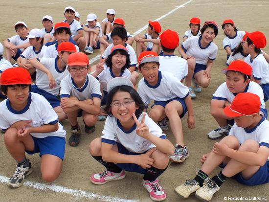 JA共済×福島ユナイテッドFC 第2回「夢授業」2012.06.05