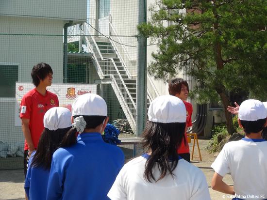 JA共済×福島ユナイテッドFC 第4回「夢授業」2012.06.26